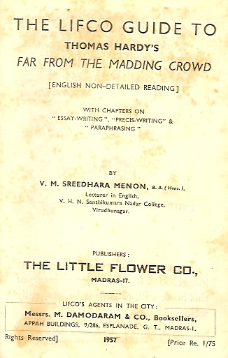 The LIFCO's (our family publishing firm) Guide to Far from the Madding Crowd (Published:1957)