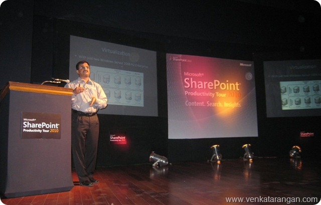 SharePoint 2010 Productivity Tour Chennai - Venkatarangan