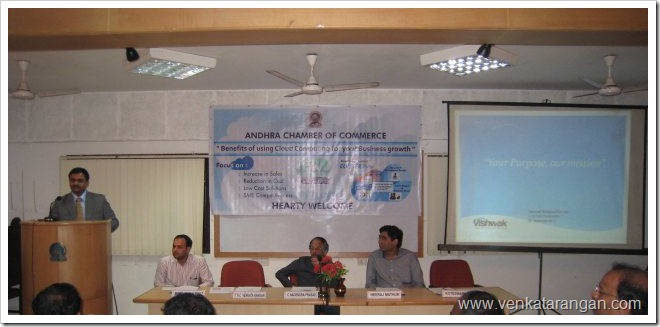 Andhra Chamber - Windows Azure - TNC Venkatarangan - 24Sep2010
