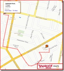 Yahoo Map in Tamil - Habibullah Road to Lakshmi Colony