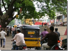 Traffic going slow near Kodambakkam High Road/North Usman Road