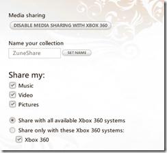 Zune Media Sharing