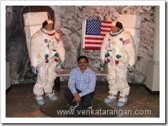 Venkatarangan with NASA Astronauts in Las Vegas Madame Tusads