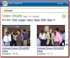Live Video Search