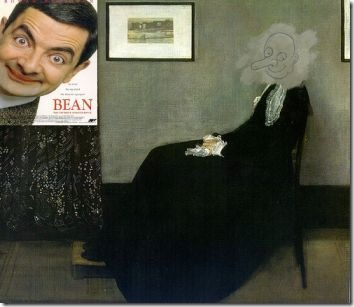 histler's Mother painting in Mr Bean The Movie