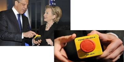 US-Russia relationship Clinton presenting Reset Button