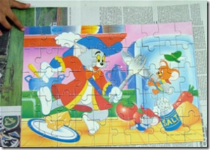 Tom and Jerry Puzzle completed by Venkatarangan TNC
