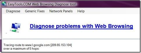 diagnose tool screenshot