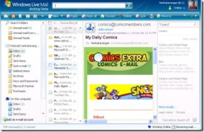Windows Live Mail Desktop Beta   Venkatarangan
