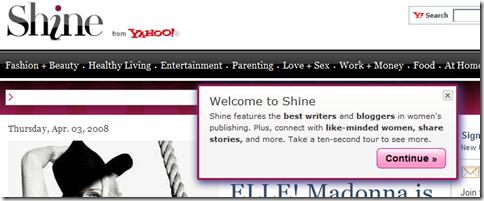 Yahoo! Shine