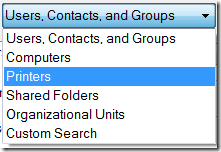 Items you can search with Windows Vista Find Users, Contacts and Groups Applet