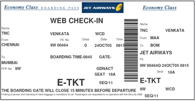 Print Your Own Boarding Pass Venkatarangan