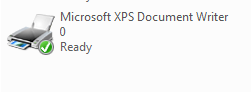 Microsoft XPS Printer in Vista