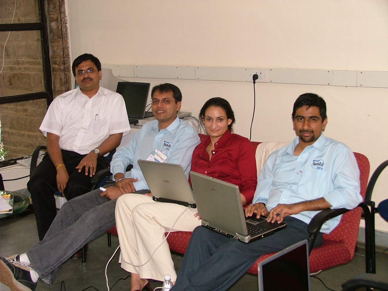 (From Left to Right, Myself, Sanjay Shetty, Sheila Gulati and Praveen Srivatsa)