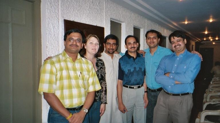 (From Left to Right, myself, Praveen Srivatsa, Satya VVV, Sanjay Shetty & Vinod Unny)