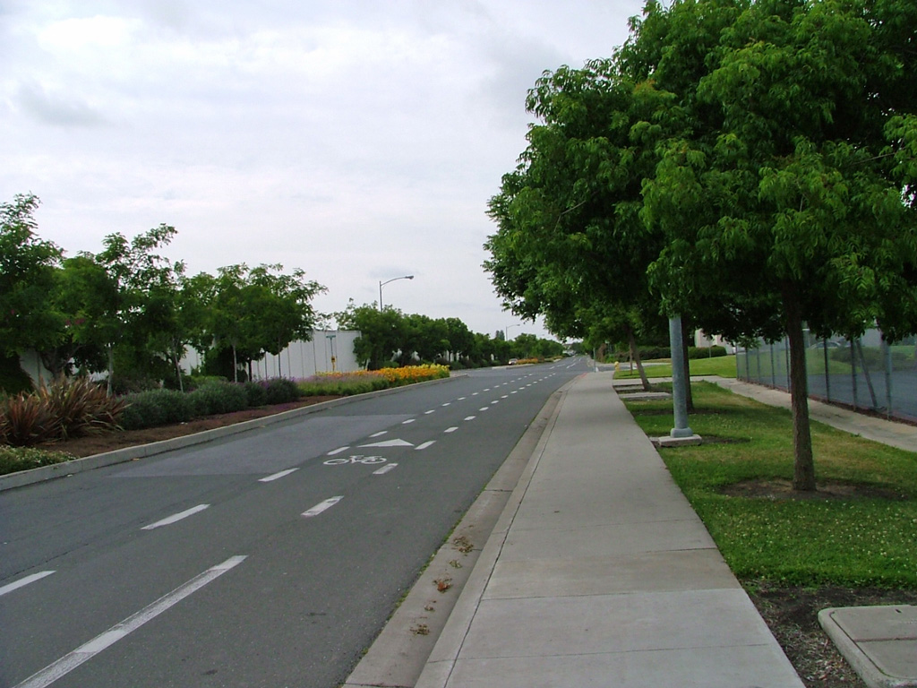 Photo of a road in Milpitas
