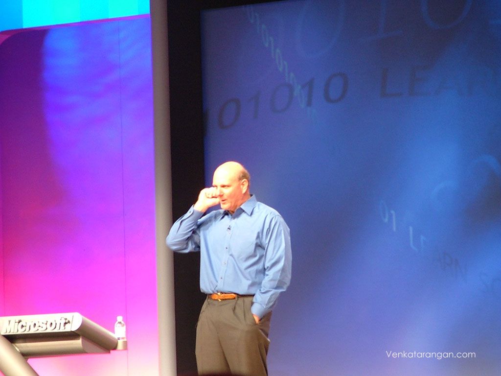 Steve Ballmer, CEO, Microsoft in Tech Ed 2005