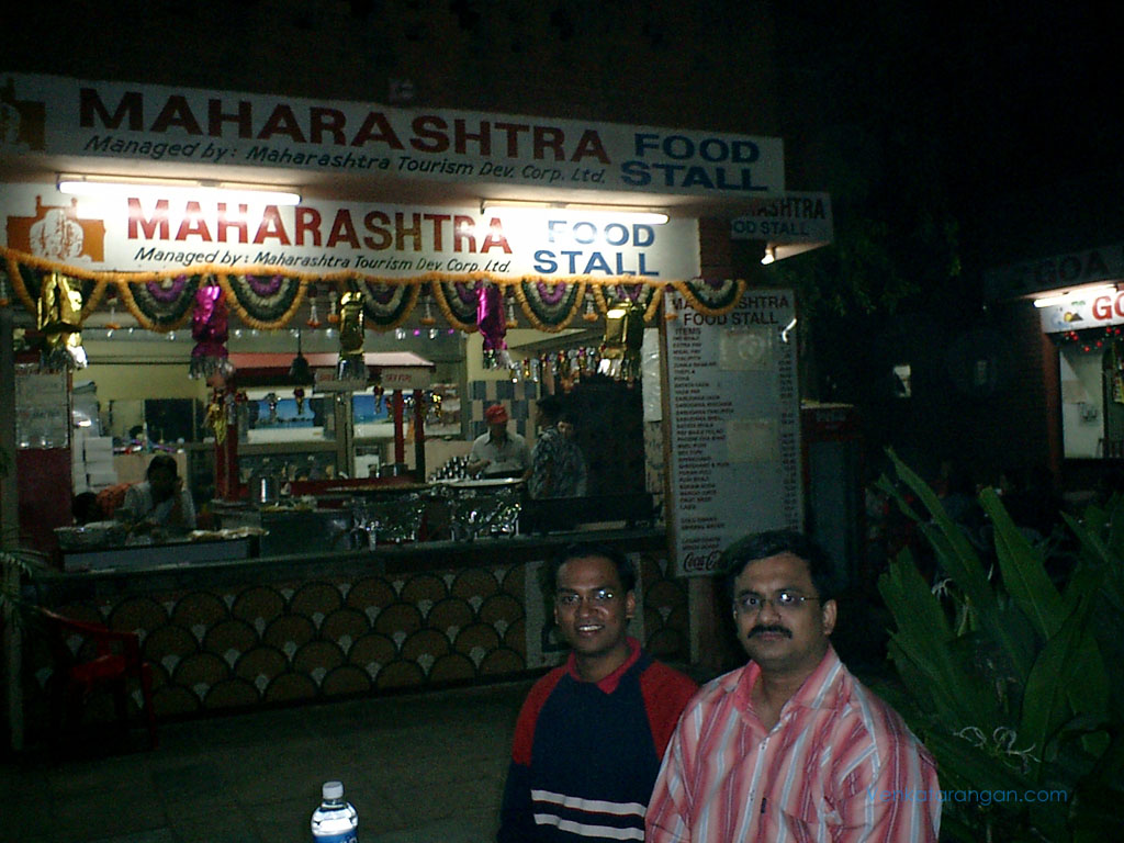 Ranganathan and myself in Delhi Haat