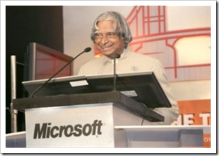 President of India in Microsoft's Bridging the two Indias