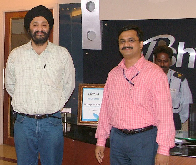 Jaspreet Bindra (MSN India Country Manager) visiting-Vishwak