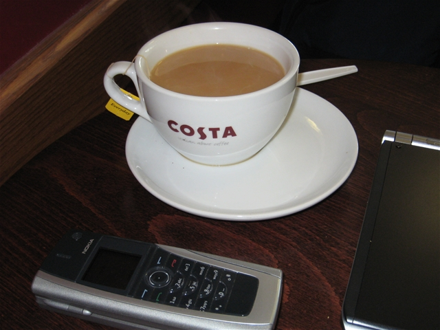 Costa Tea in London Heathrow