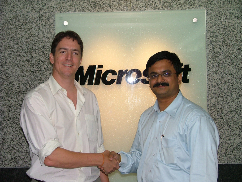 (My photo with Brian Arbogast here has nothing to do  with Mix '07 - it was taken on 22/Oct/2004 in Gurgaon)