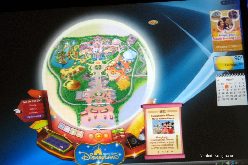 DisneyLand HK Vista Gadget preinstalled