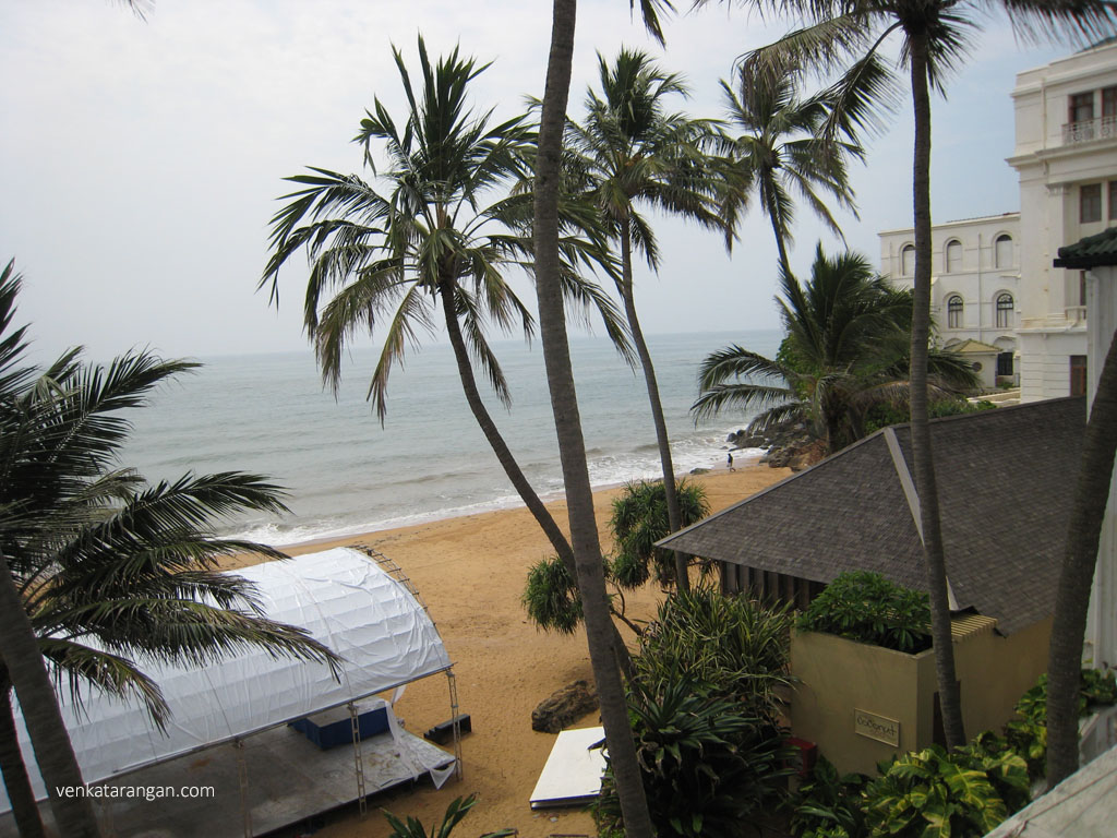 Private Beach at Mount Lavinia Hotel