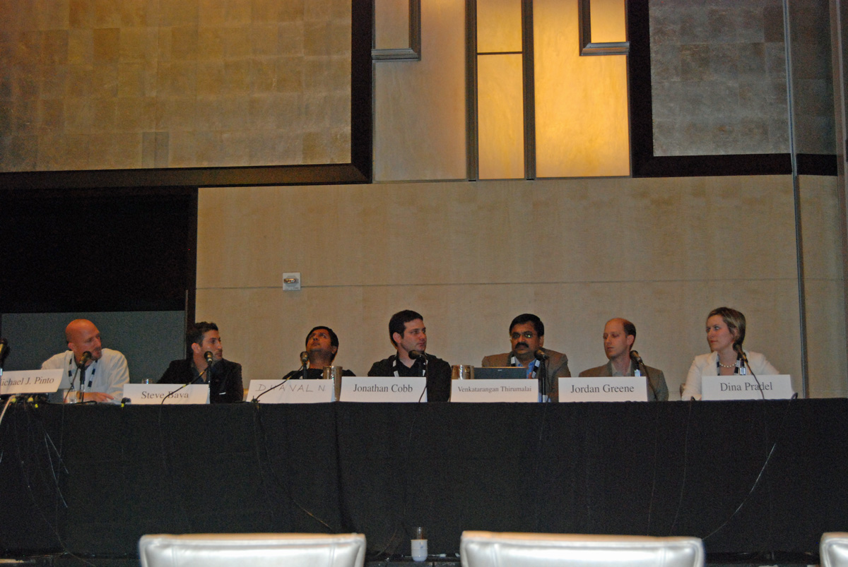Venkatarangan speaking in a panel for Digital Hollywood 2007