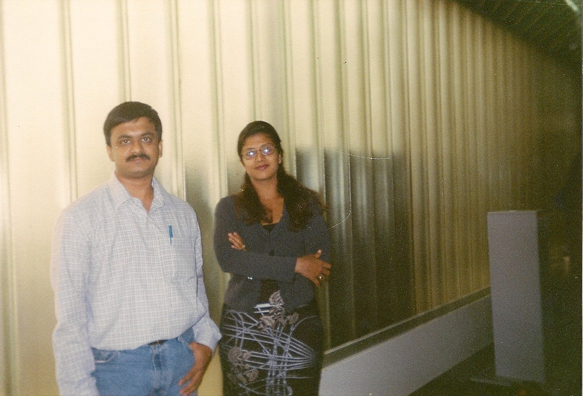 With Actress Ramba in Frankfurt Airport (1999)