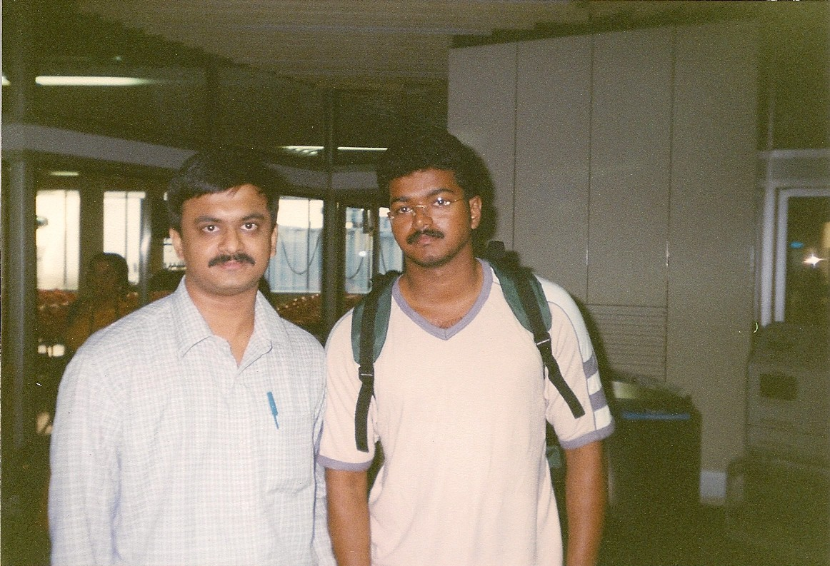 With Actor Vijay in Frankfurt Airport (1999)