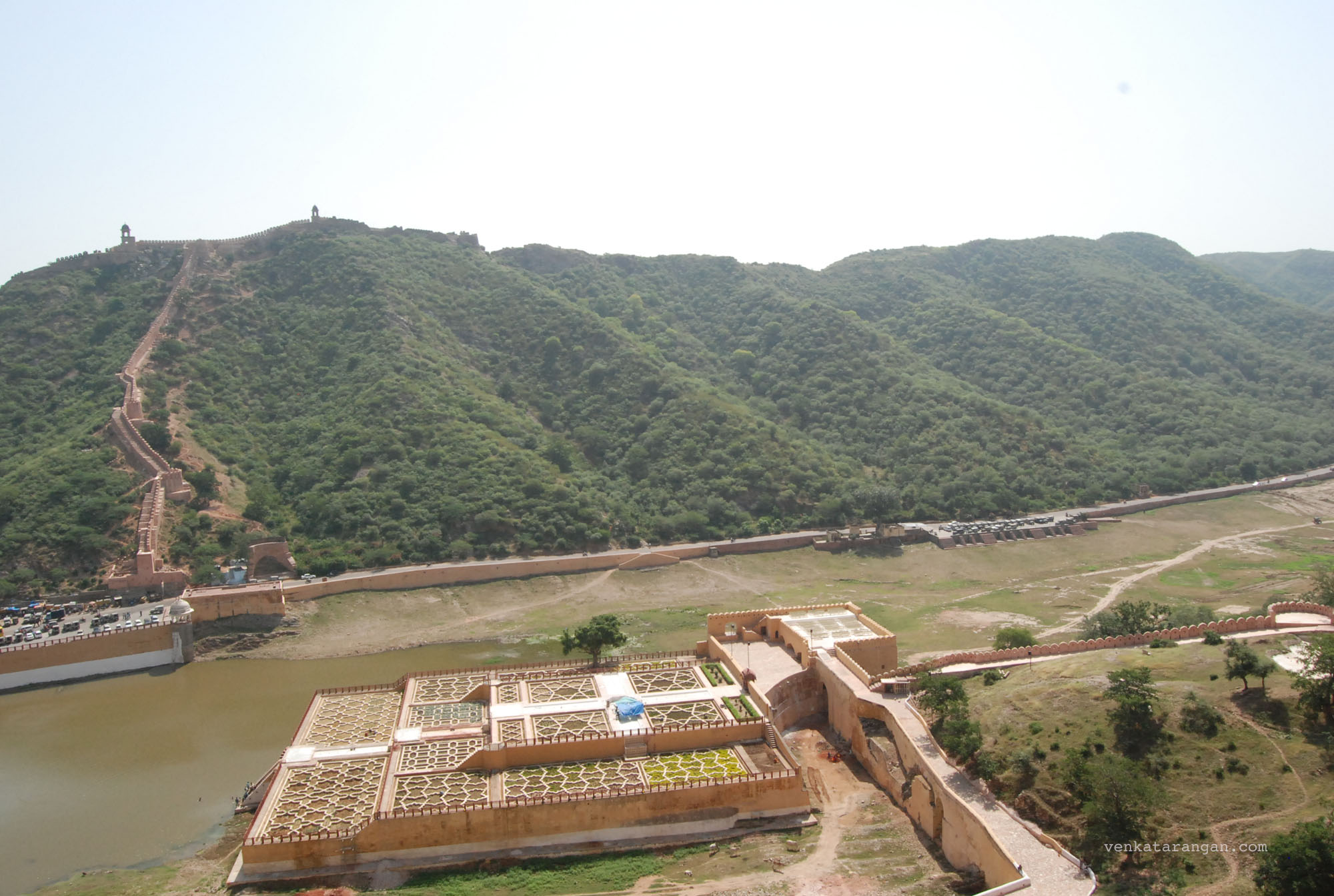 The surrounding moat for protection of the Amer fort