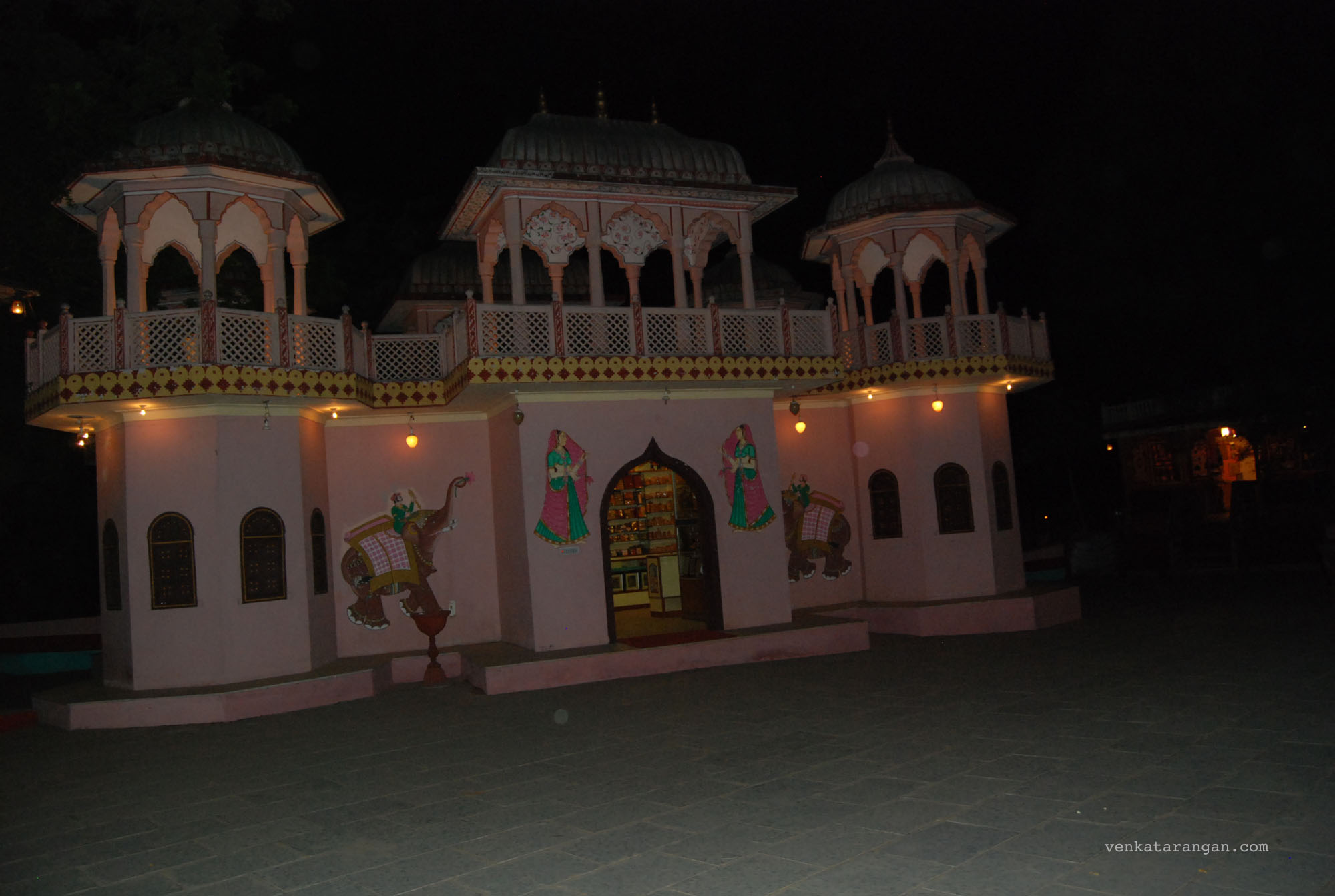 A model palace in Chokhi Dhani