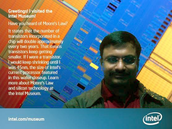 visitor ecard at intel museum santa clara.