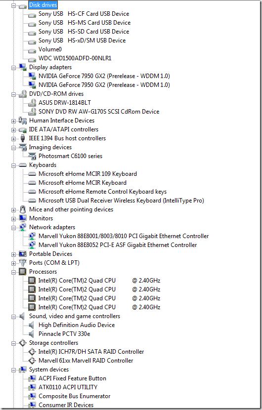 Windows 7 - All Drivers working fine in x64