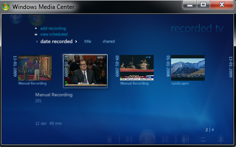 Windows 7 Media Center working with Tata Sky DTH