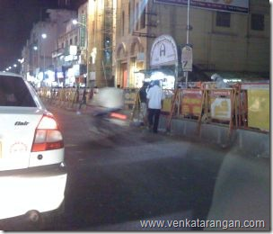 Negligence of Safety while crossing in Ranganathan Street