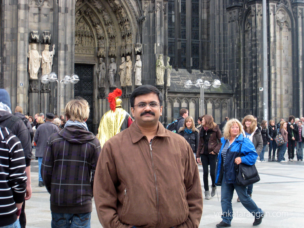 Venkatarangan in Kölner Dom (Cologne Cathedral)