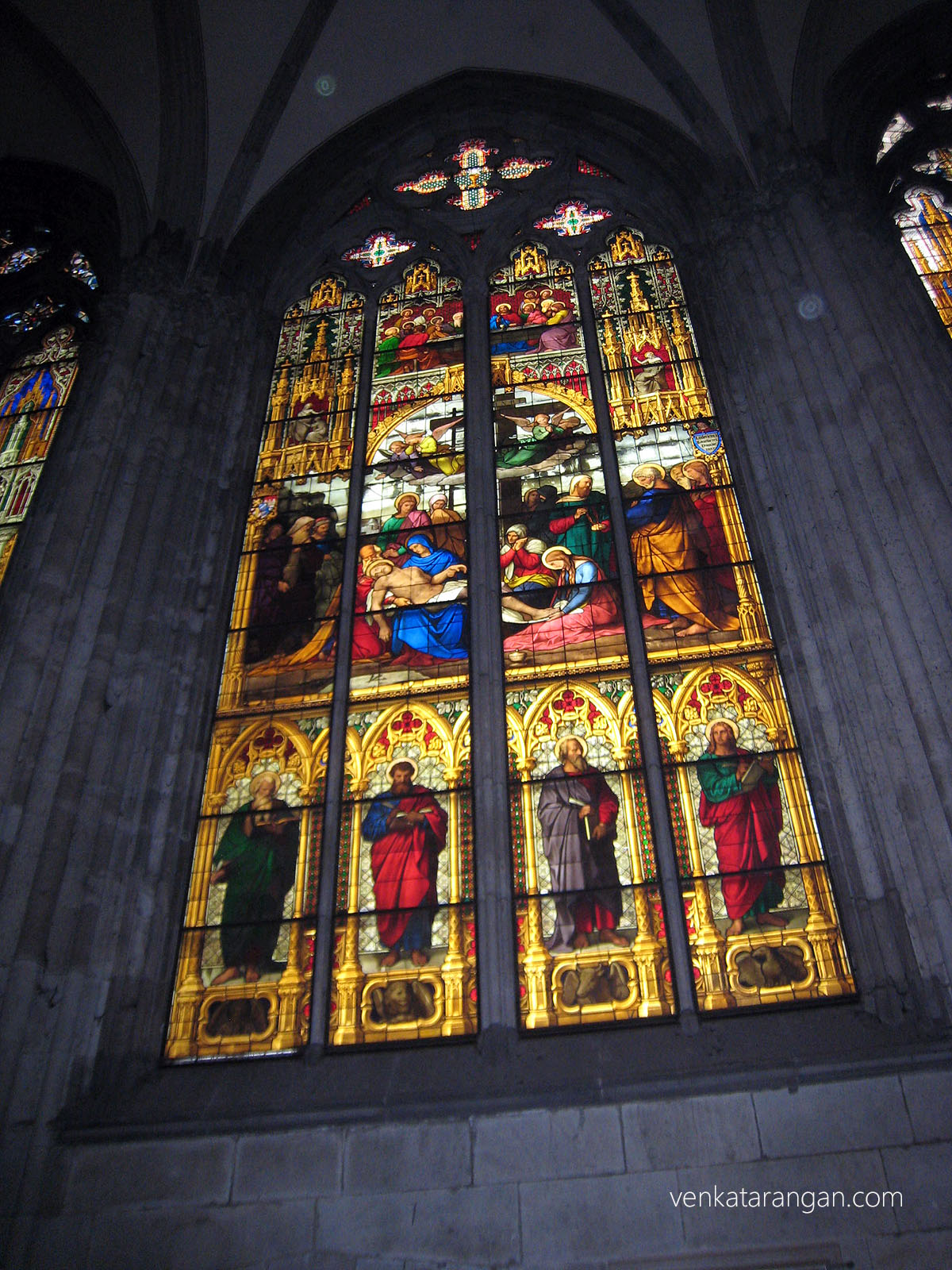 Stained glass mosaic at Kölner Dom (Cologne Cathedral)