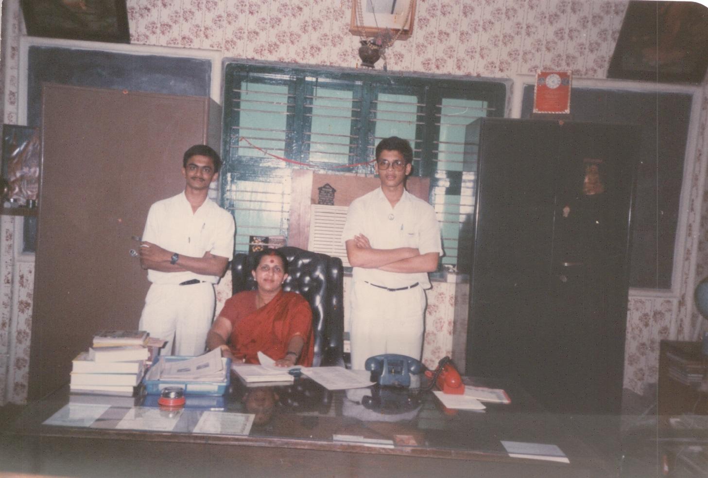 With Shrine Vailankanni School's Correspondent Mrs Bagalakumari Pillai