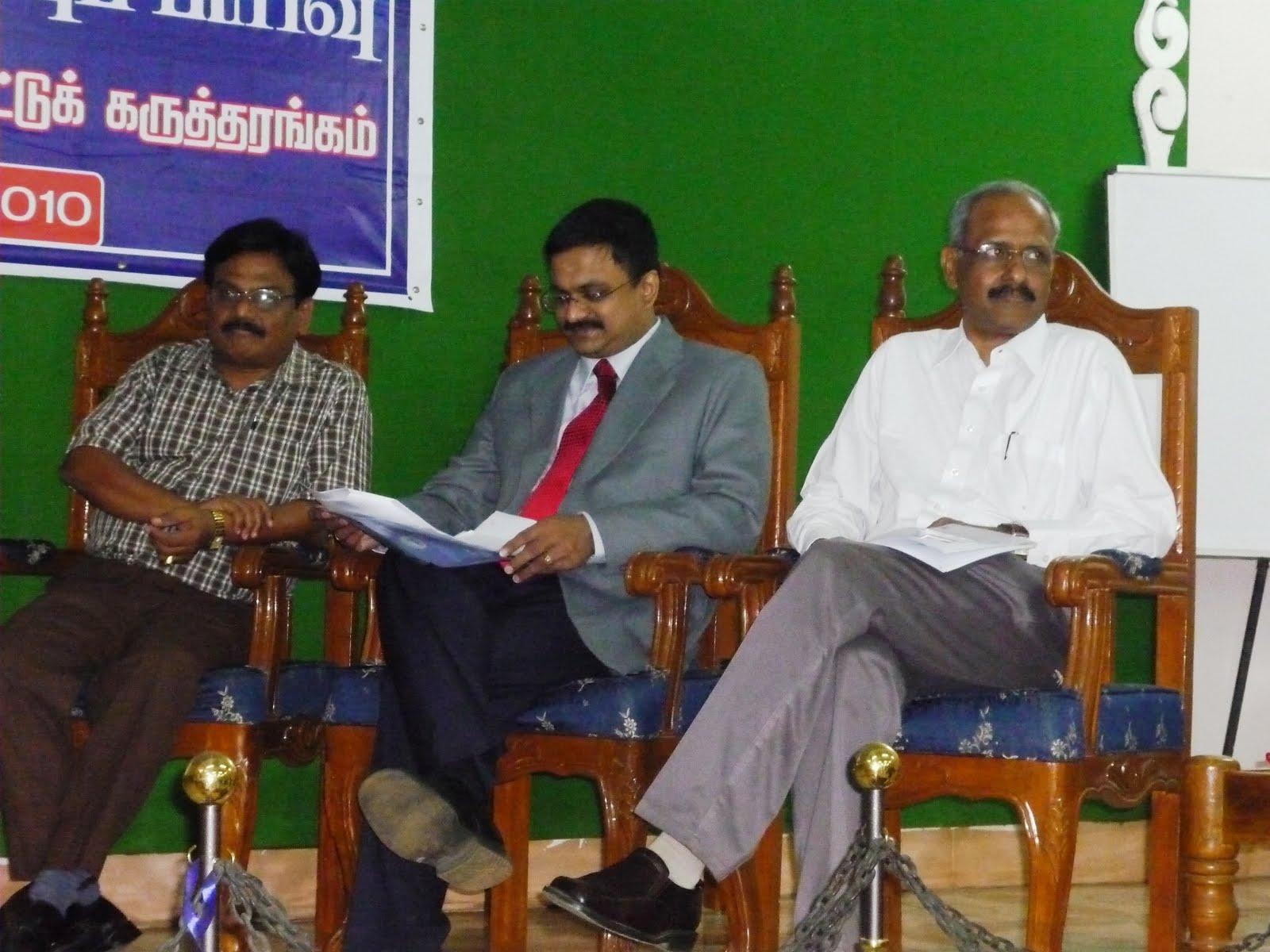 Dr.Ganesan (Annamalai University), T.N.C.Venkata Rangan (Chair, INFITT), A.Elangovan (CEO, CADGRAF)