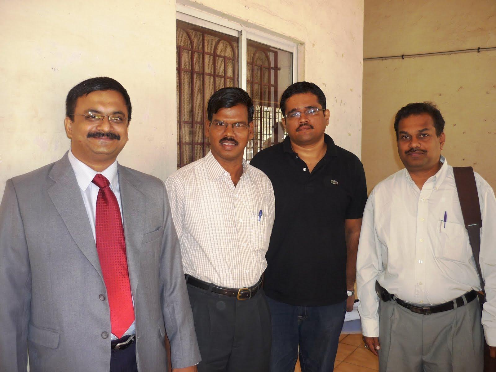 T.N.C.Venkata Rangan, Dr.M.Elangovan, Mr.Nagarajan (CTO, NHM), Mr.V.Raman (INFITT WG09 Chair)
