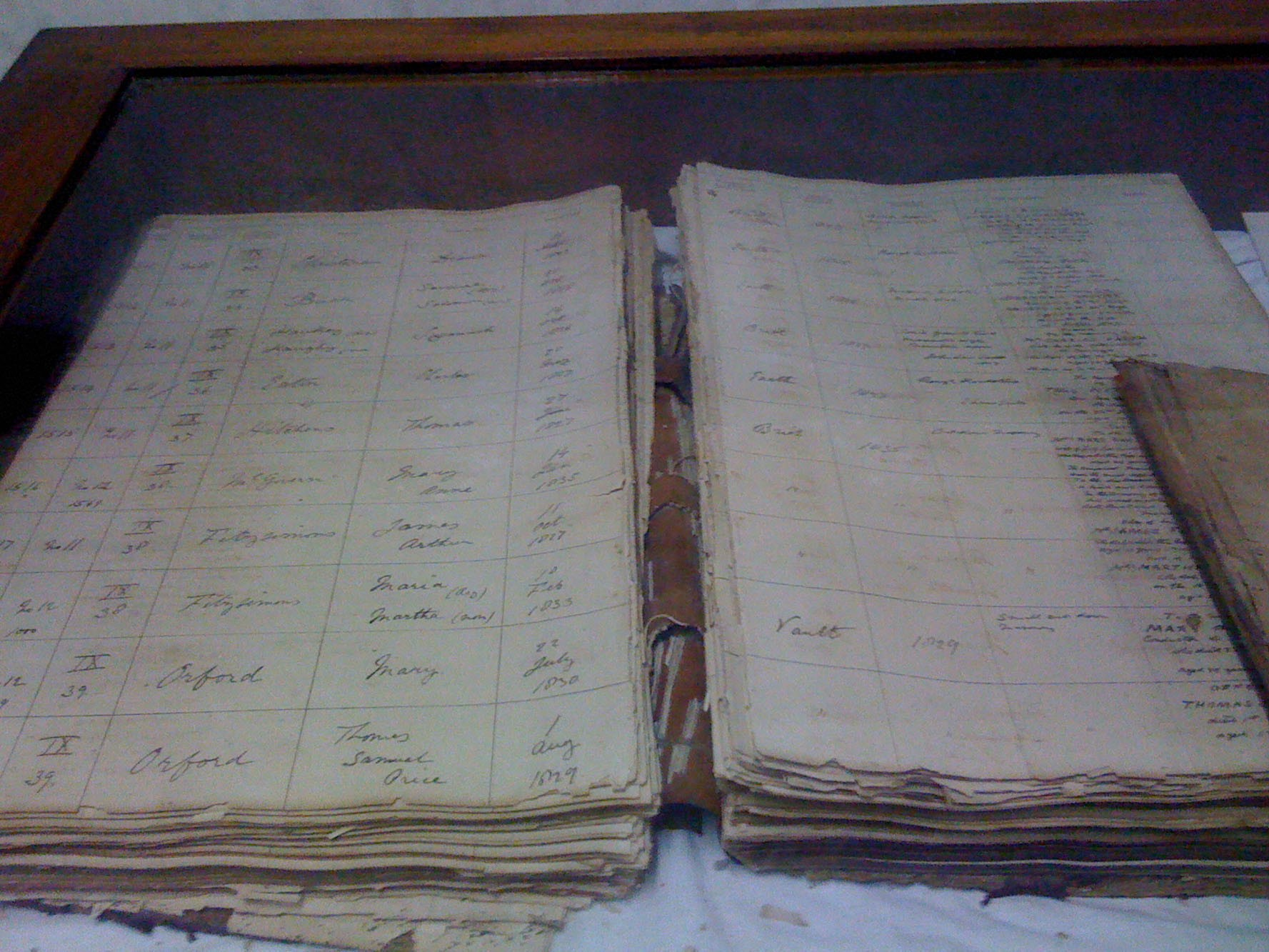 Saint Mary's Marriage Register - First entry is for Elihu Yale, who gave his name to Yale University, USA