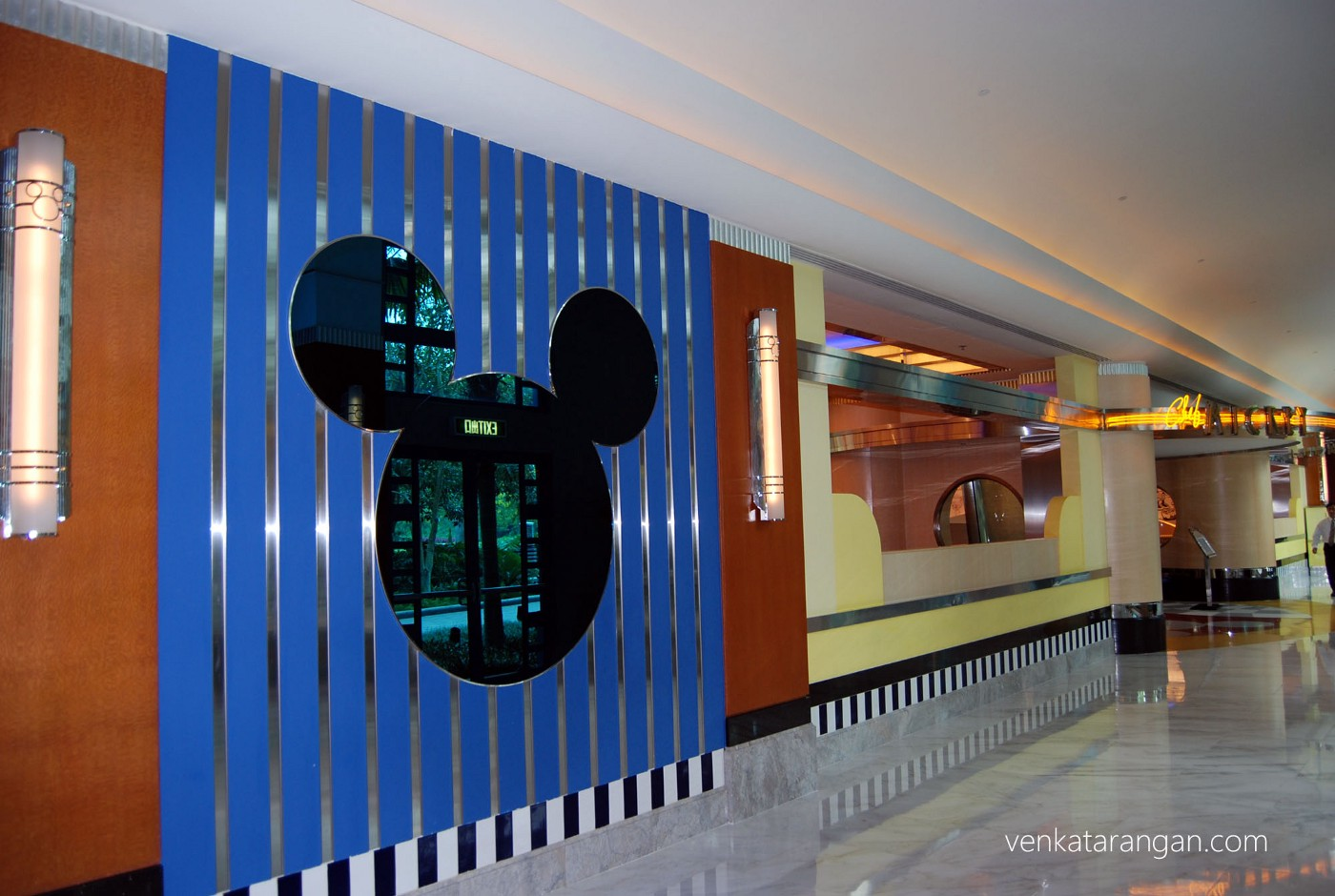 Mickey Mouse everywhere - Lobby of Disney hollywood hotel