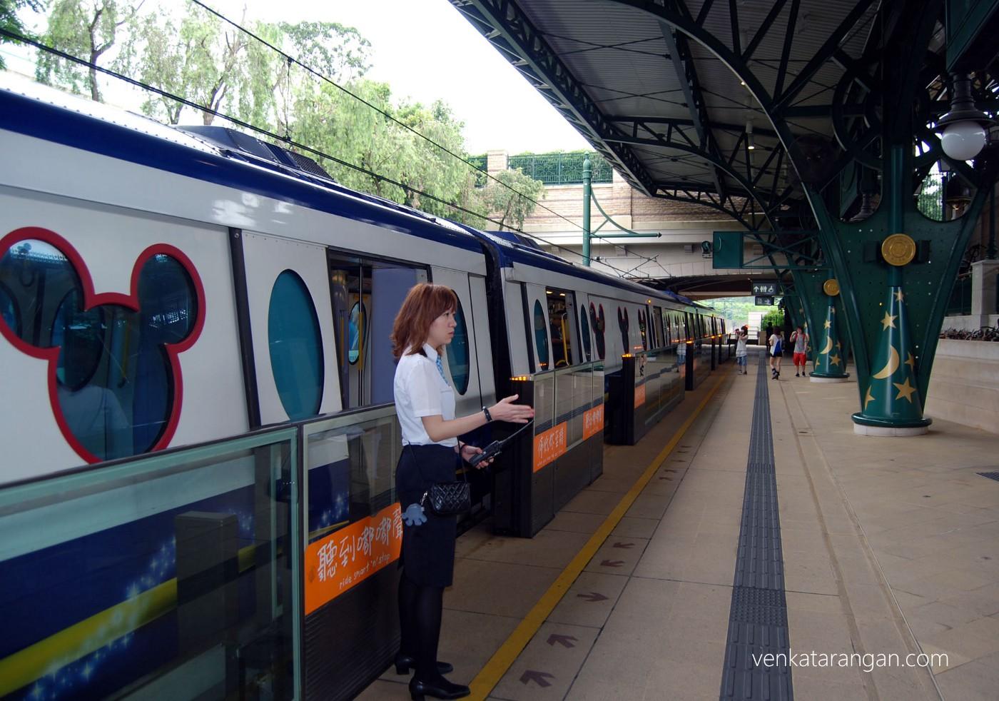 Trains (Hong Kong MTR) too had Mickey branding