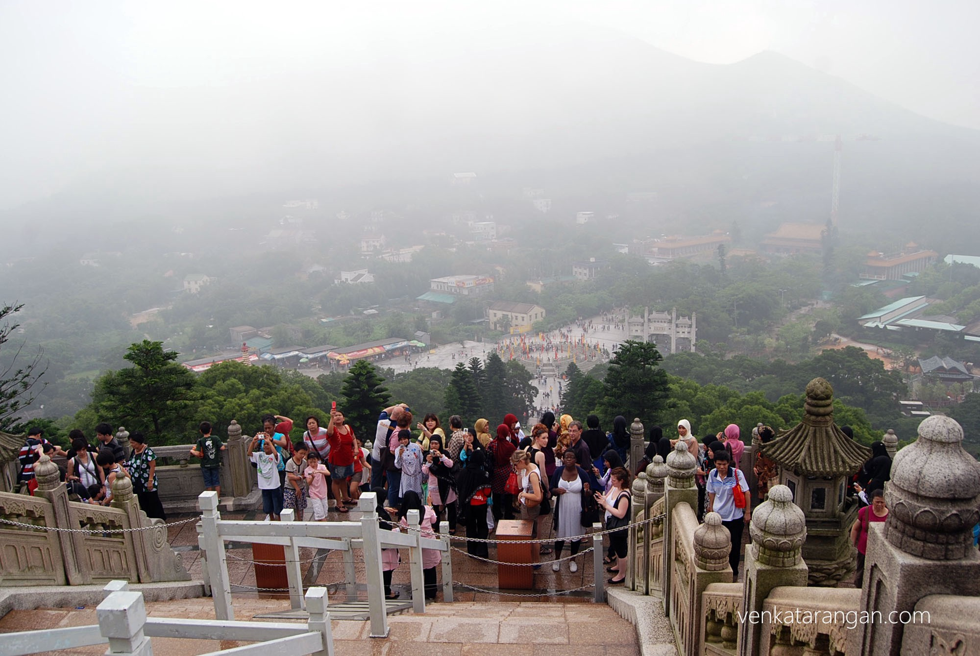 View from the top at Ngong Ping, Lantau Island, in Hong Kong