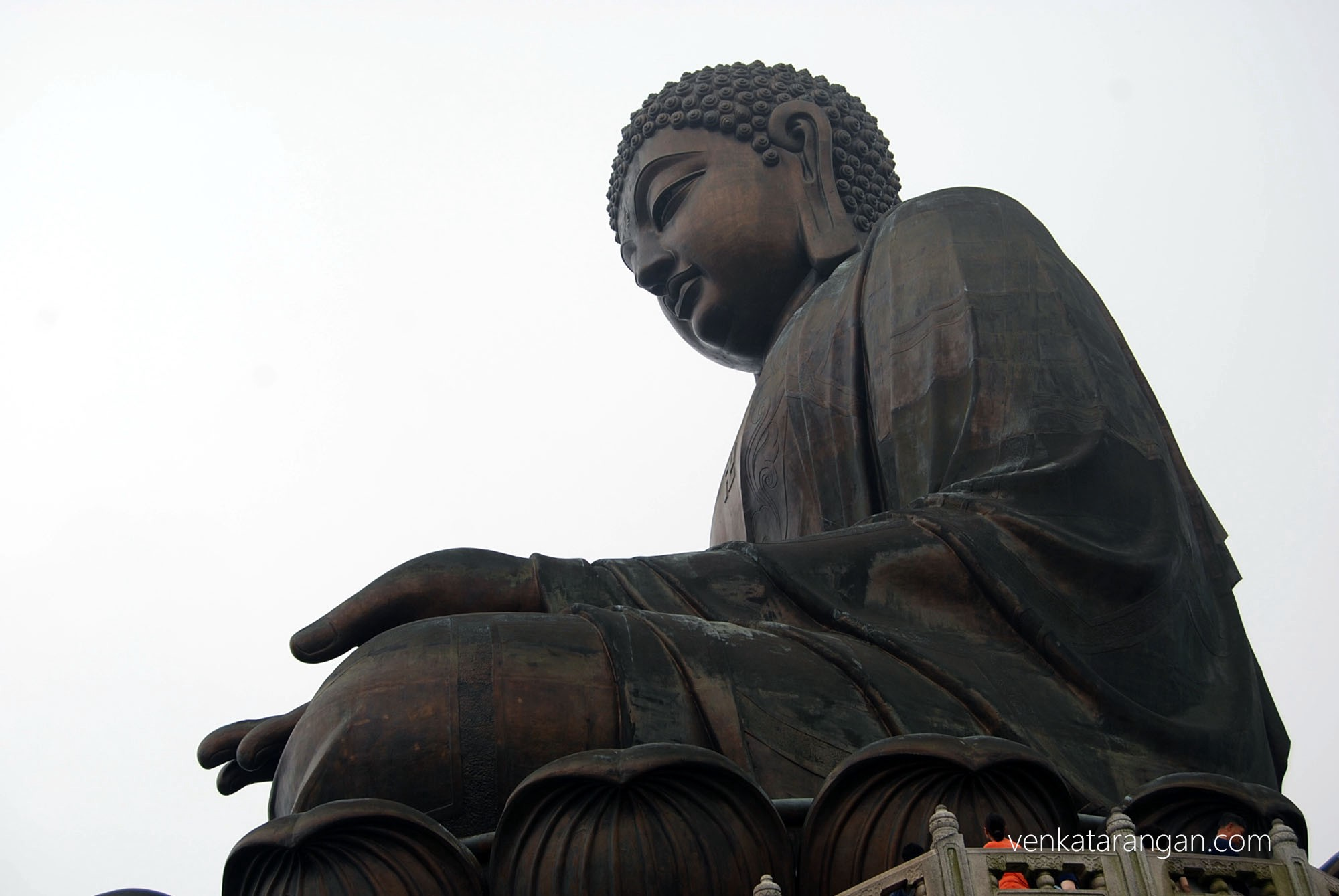 Tian Tan Buddha, also known as the Big Buddha, located at Ngong Ping, Lantau Island, in Hong Kong.