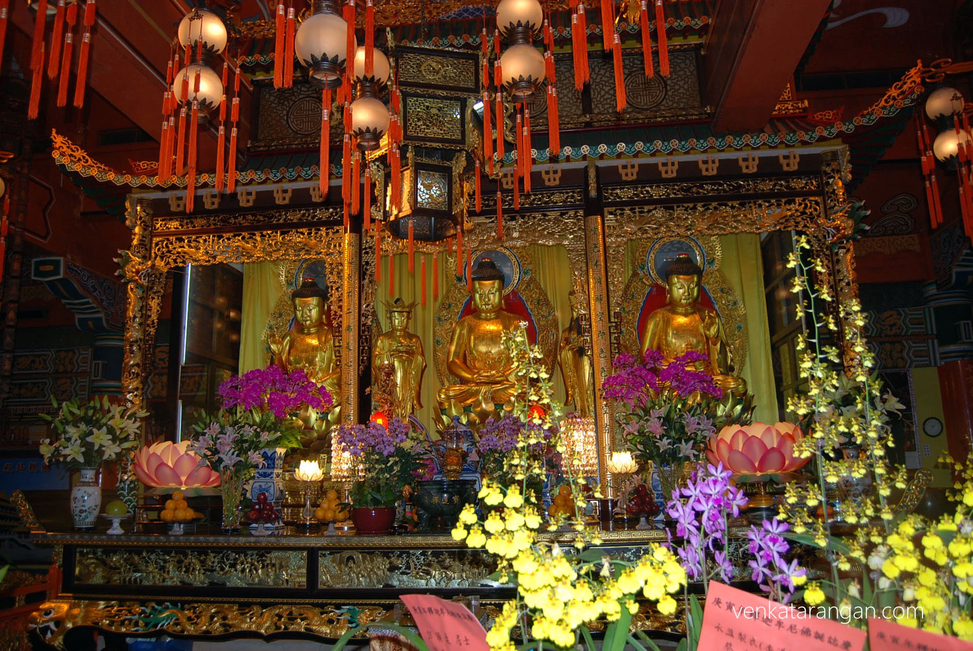 Po Lin Monastery Great Hall Three Golden Buddhas