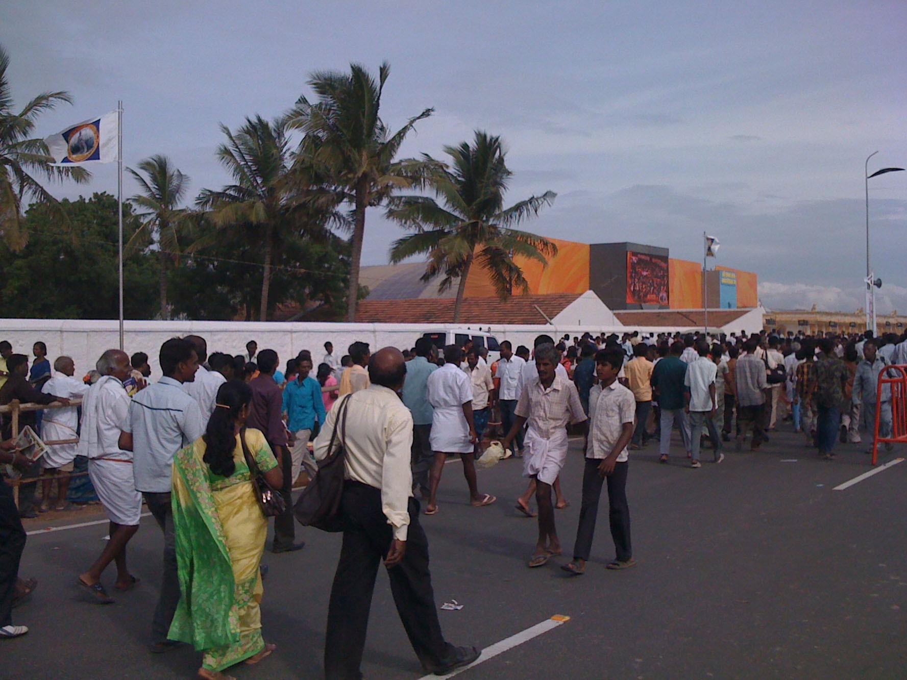 Lakhs of people going for the conference exhibition