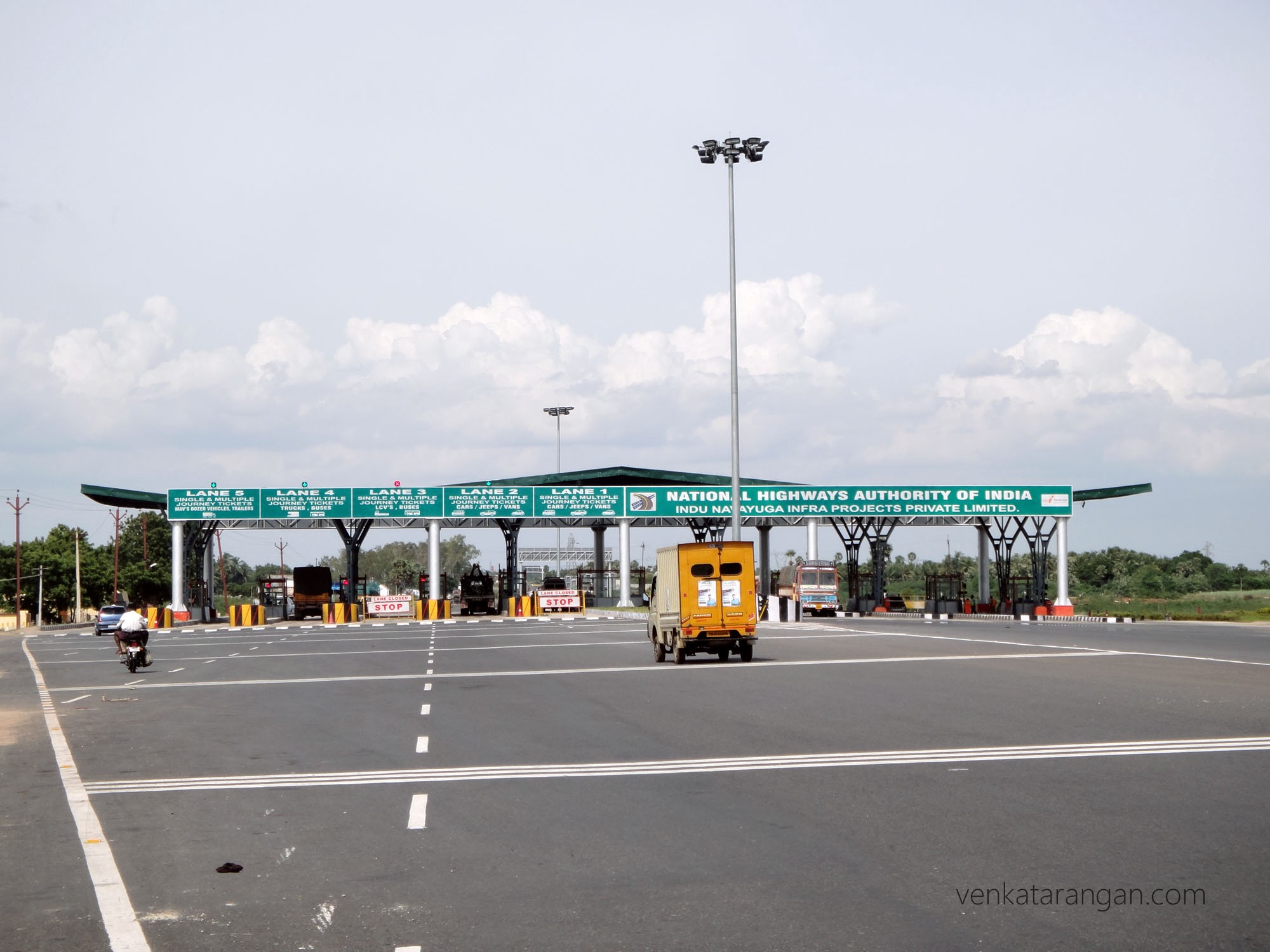 Chennai to Trichy NH45 Toll Booth